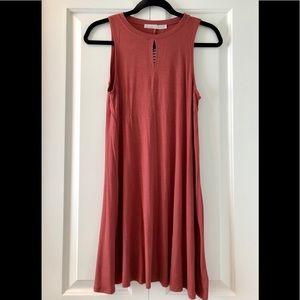 Double Zero Women's (S) Rust Key Hole Dress